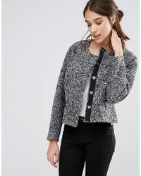 Closet Closet Cropped Pocket Jacket - Gray