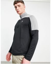 adidas Originals Quarter Zip Top - Black