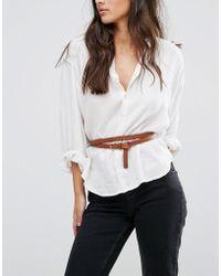 Vero Moda - Leather Double Belt - Lyst