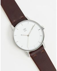 adidas Originals Adidas District L1 Leather Watch - Brown
