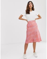Vero Moda Midirok Met Print - Roze