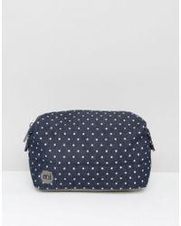 Mi-Pac Premium Make-up Bag In Denim Spot - Indigo/white - Blue