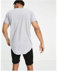 TOPMAN T-shirt skinny taglio lungo grigia - Grigio
