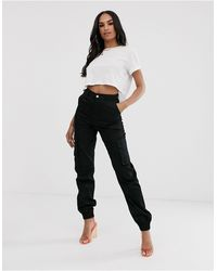 Missguided Cargo Pants - Black