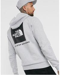 The North Face Hoodie à manches raglan et logo carré rouge - Gris
