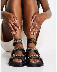 ASOS Flyaway Premium Sporty Sandals - Black