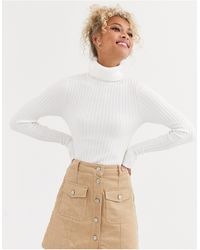 New Look Roll Neck Sweater - White