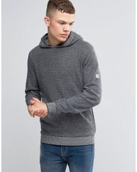 Bench - Overhead Hoodie With Contrast Cuffs - Lyst