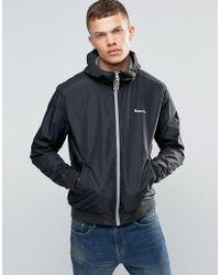 Bench Zip Through Lightweight Jacket In Black