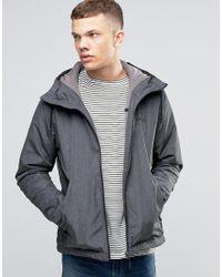 Bench Zip Through Lightweight Jacket With Hood In Black