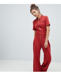 7fd9f05ba1 Lyst - ASOS White Pocket Detail Jumpsuit in Gray