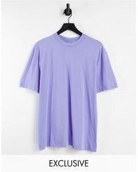 Collusion T-shirt en coton biologique - Violet