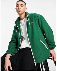 Lacoste Зеленая Классическая Куртка С Убирающимся Капюшоном -зеленый Цвет