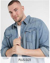 Levi's Big & Tall Barstow Denim Shirt - Blue