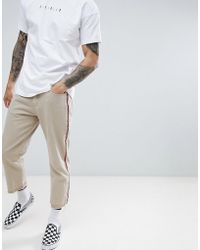 FairPlay - Relaxed Skate Chino With Side Stripe In Stone - Lyst