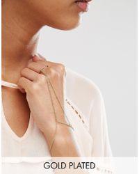 Pilgrim - Gold Plated Geo Circle Hand Harness - Lyst