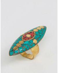 Glamorous | Mosaic Cross Ring | Lyst