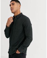 Burton Shirt In Khaki Herringbone - Green