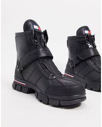 Tommy Hilfiger Черные Ботинки -черный
