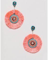Miss Selfridge - Fan Tassle Earrings - Lyst