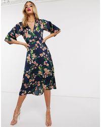 AX Paris Kimono Midi Dress - Blue