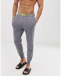 Calvin Klein Monogram joggingbroek Met Boorden In Donkergrijs