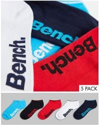 Bench Turin 5 Pack Trainer Sock Liners - Blue
