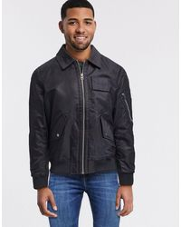 Calvin Klein Nylon Bomber Jacket - Black