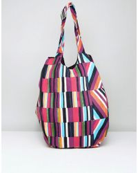 Vero Moda - Colour Block Shopper Bag - Lyst