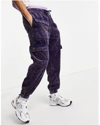 ASOS - Pantaloni stile skater lavaggio acido a coste - Lyst
