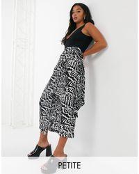 TOPSHOP Petite Wrap Sarong Skirt - Black