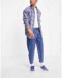 Tom Tailor Jean coupe ballon - foncé délavé - Bleu