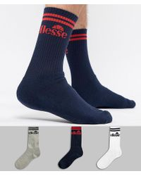 Ellesse 3 Pack Sock - Blue