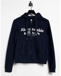 Abercrombie & Fitch Zip Front Hoodie - Blue