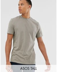 ASOS - Tall Organic T-shirt With Crew Neck - Lyst