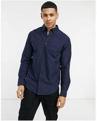 Ben Sherman Оксфордская Рубашка С Длинными Рукавами -темно-синий