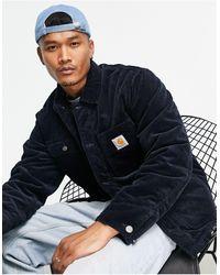Carhartt WIP Темно-синее Вельветовое Пальто -темно-синий