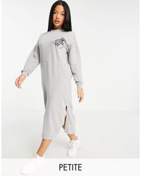 Noisy May Vestito maglione midi grigio