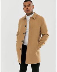 ASOS – Mantel aus Wollmischung - Natur