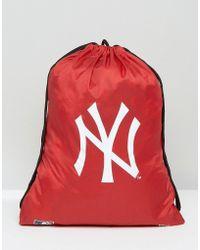 KTZ - Ny Drawstring Backpack - Red - Lyst