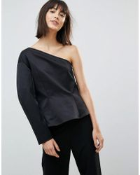 Weekday - Press Collection Rogue One Shoulder Top - Lyst