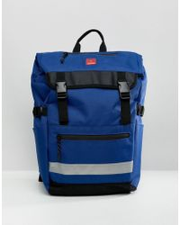 DC Shoes - Rolltop Rucksack In Blue - Lyst