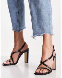 Lipsy Strappy Heeled Sandals - Black