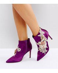 ASOS - Asos Elegance Wide Fit Embellished Pointed Ankle Boots - Lyst