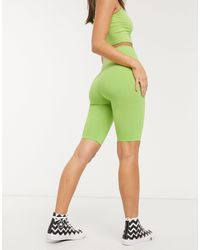 Monki Зеленые Леггинсы-шорты -зеленый