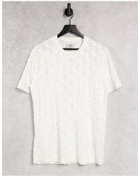 Sixth June Camiseta blanca con diseño flocado por toda la prenda - Blanco