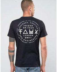 Friend or Faux Nostalgia Back Print T-shirt - Black