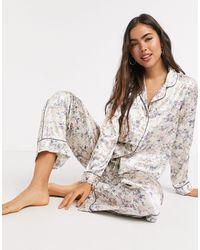 Vero Moda Pajama Shirt And Trouser Set - Multicolor