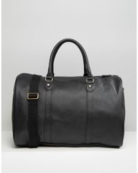ASOS - Smart Holdall In Black Faux Leather - Black - Lyst
