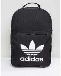adidas Originals - Large Trefoil Logo Backpack In Black Dj2170 - Lyst